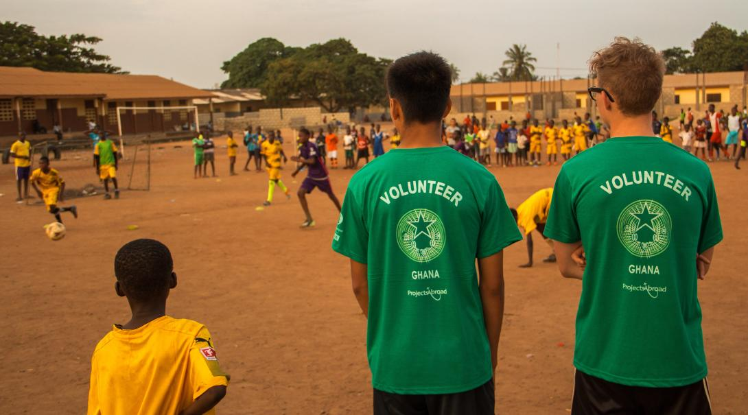 Volunteer as a football coach in Ghana and help coach local teams.